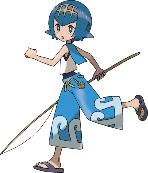WATER TYPE: Lana - Trial Captain, Alola | Pokemon Type
