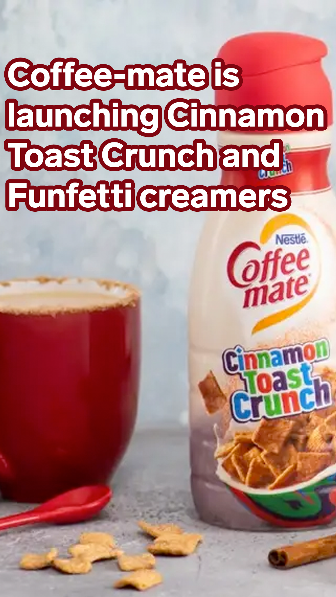 Coffee-mate is launching Cinnamon Toast Crunch and Funfetti creamers (With images) | Cinnamon ...