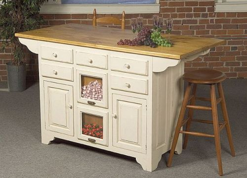 Moveable Kitchen Island with Seating  Small Kitchen Islands with