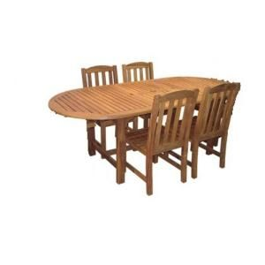 Hampton Bay Teak Patio Dining Chairs Set Of 4 Only Amazteak4pc At The Home Depot