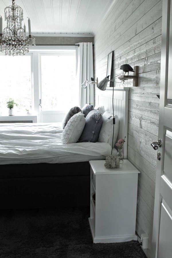 sovrum, inspiration, vitt sovrum, interiör, vita, vitt, vit panel ...