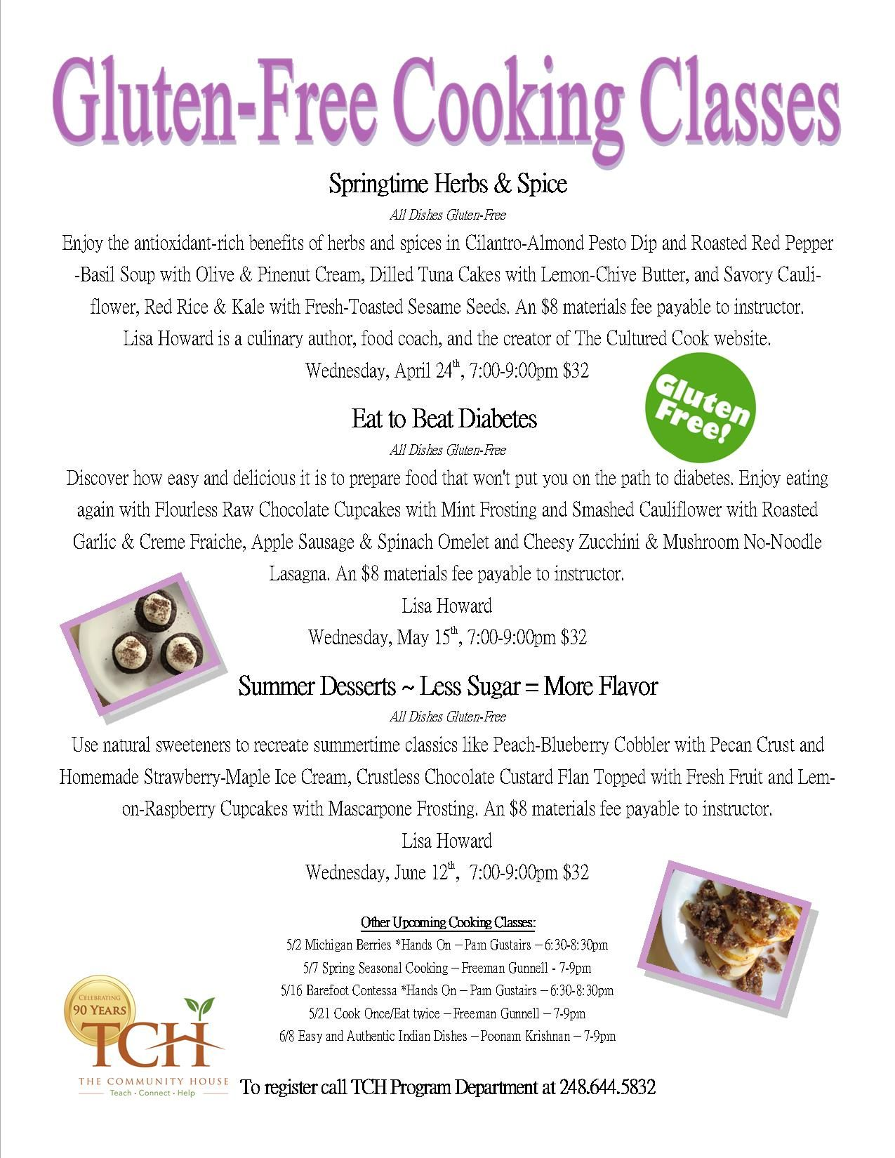 Gluten free cooking classes this spring the community