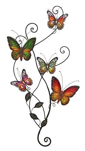 Metal Wall Decor Butterfly Sculpture 29x15 -- Unbelievable item ...