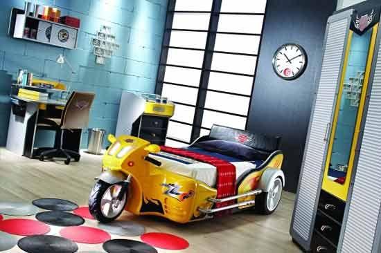 Motorcycle Bed Kids Bedroom Designs Cool Kids Bedrooms