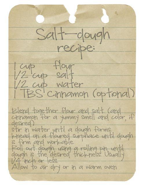 Salt Dough Recipe. ...for ornament making. - Salt Dough Recipe.for Ornament Making. Christmas Ornaments