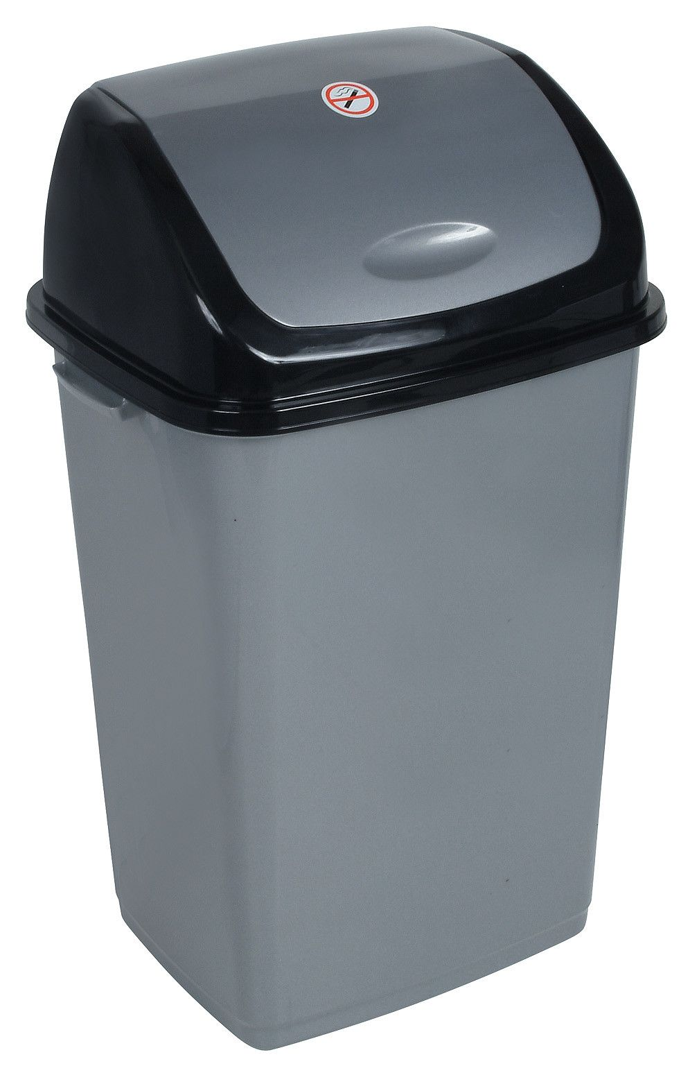 plastic 13 gallon swing top trash can products grey kitchen rh pinterest co uk
