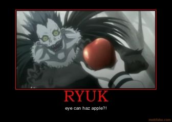 Death Note L Funny Moments   TAGS: death note ryuk apple shinigami ...