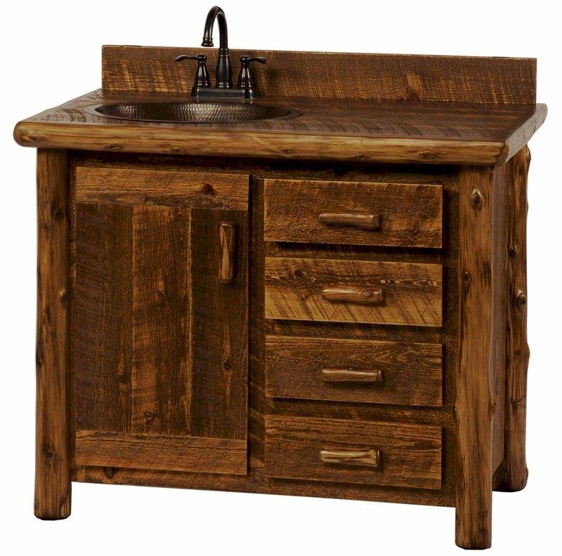 Rustic Bathroom Vanities Made From Dressers
