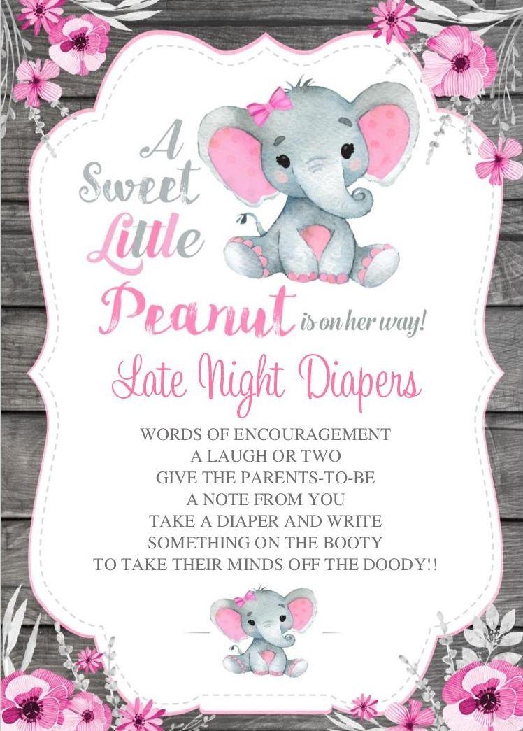 Elephant Baby Shower Peanut Baby Shower Baby Shower