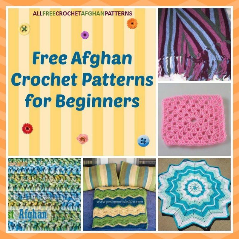 25 Free Crochet Afghan Patterns for Beginners | Afghan crochet, Easy ...