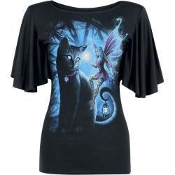 Photo of Spiral Cat And Fairy Damen-T-Shirt – schwarz Spiral Direct