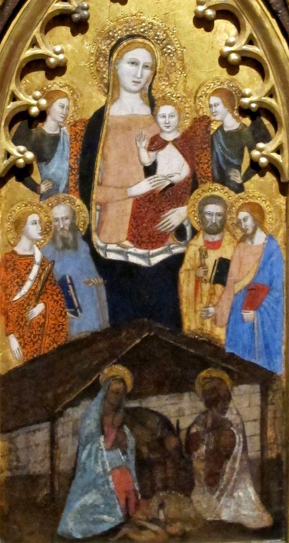 Andrea di Buonaiuto da Firenze - Madonna col bambino angeli e santi - Altarolo - Pushkin Museum, Mosca