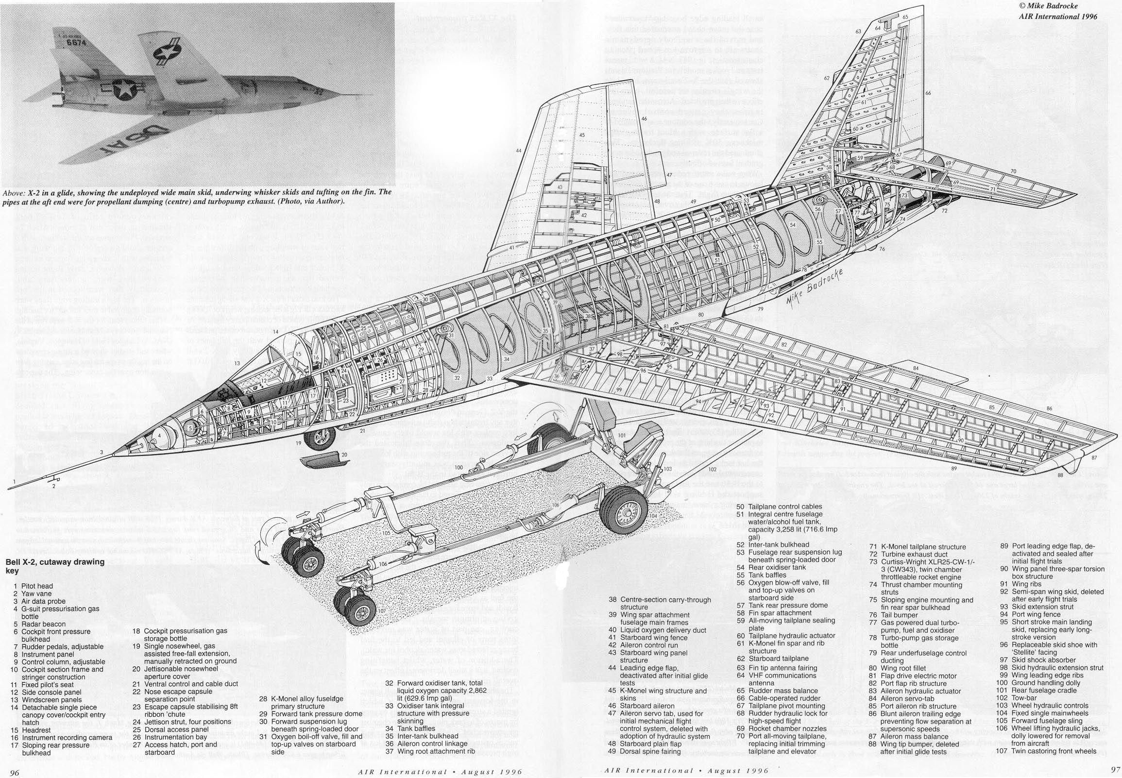 Bell X 2 Cutaway Cutaway Aircraft Design Aviation