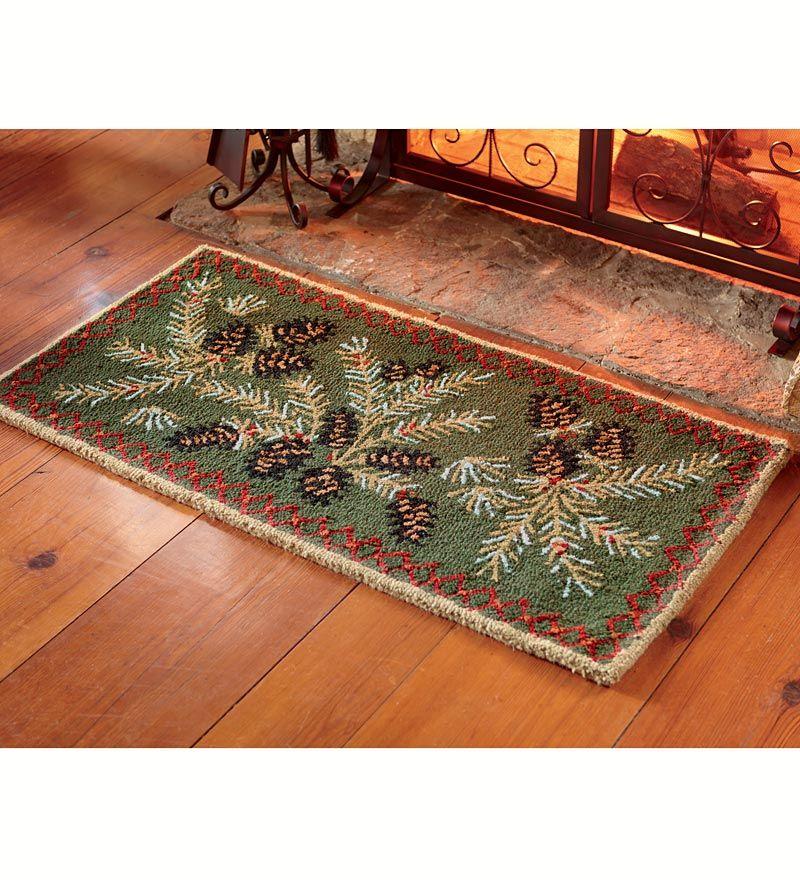 Pine Cone Hearth Rug Wool Plow