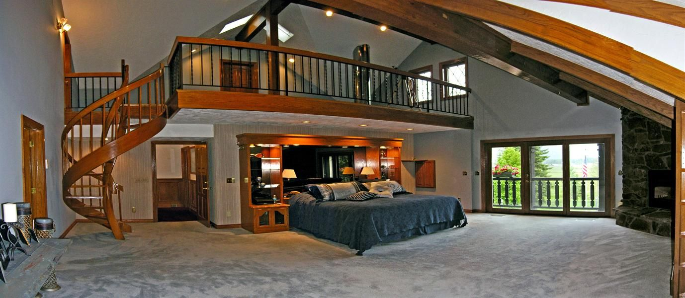 That is definitely one huge master bedroom stylish bed for Huge bedroom designs