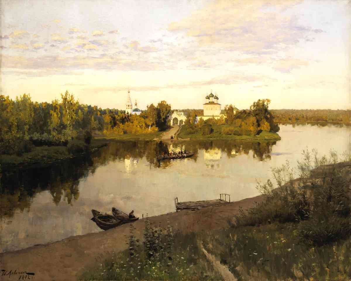 A picture glorifying the beauty of Russian nature