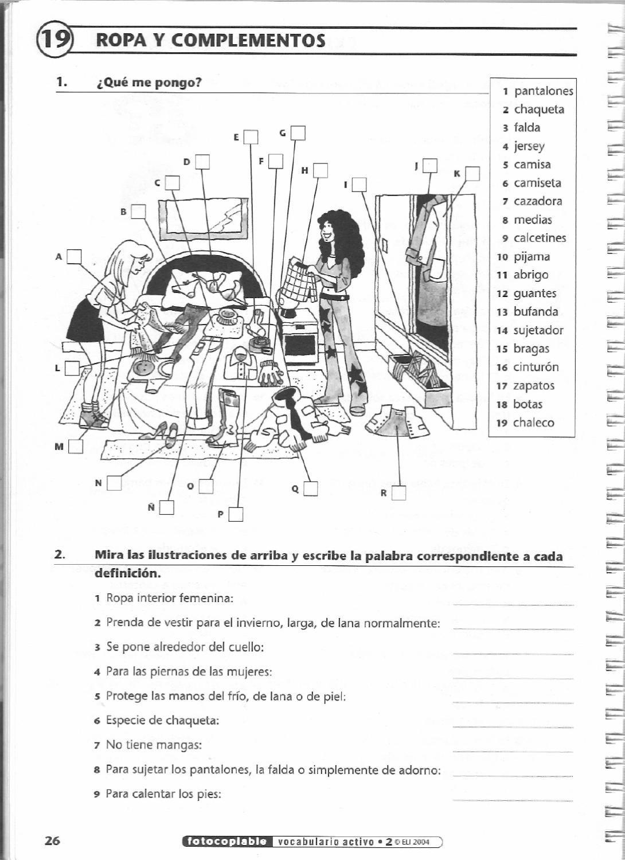 Las Prendas De Vestir La Ropa Spanish Teaching Spanish Et