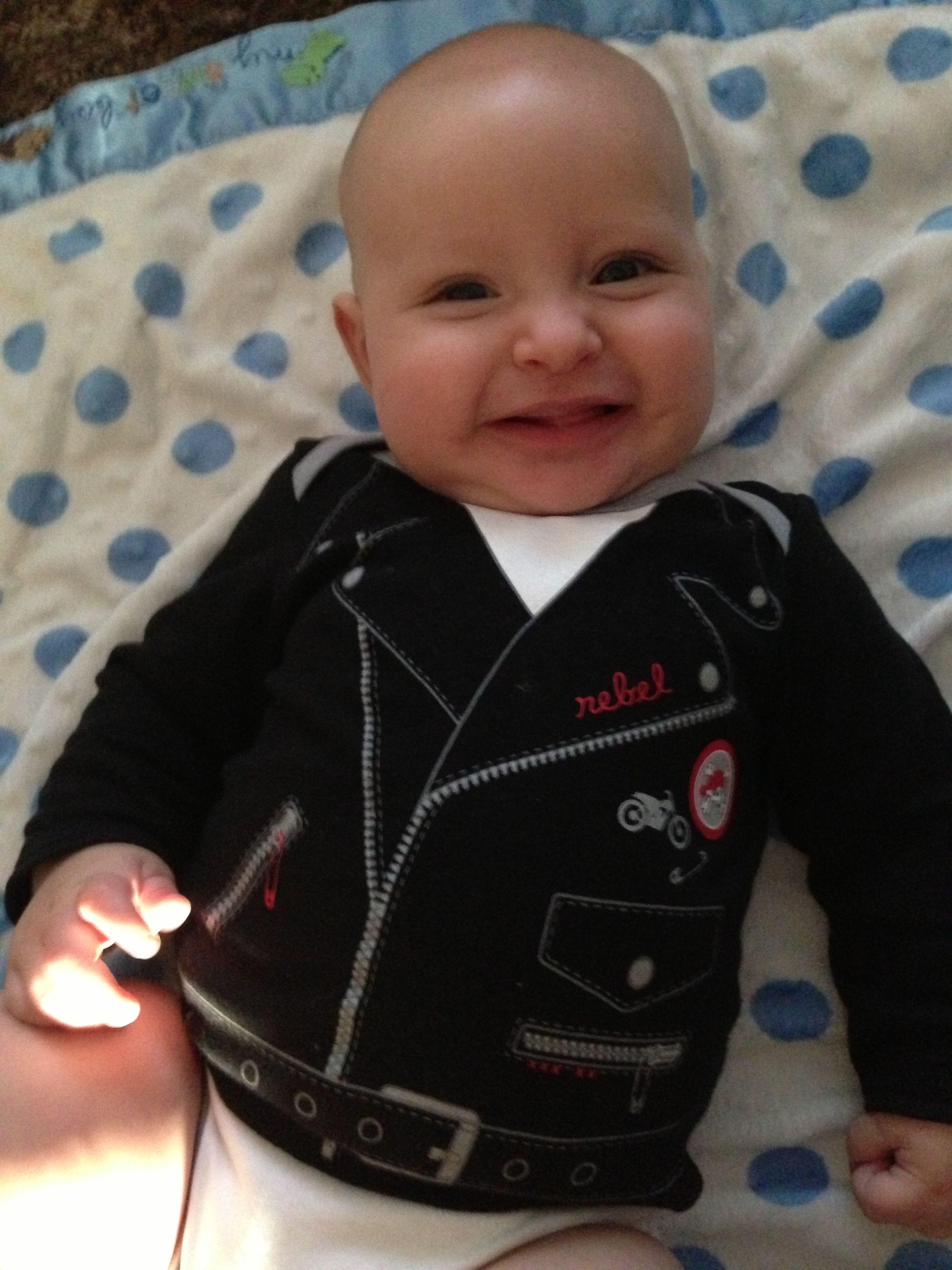 543667db9 Baby motorcycle jacket onesie