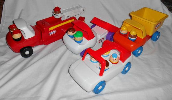 4 vintage LITTLE TIKES trucks car and 12 people by UncleJohnsBand