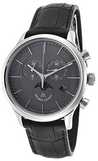 Maurice Lacroix Men's Les Classique Chronograph Black Genuine Leather