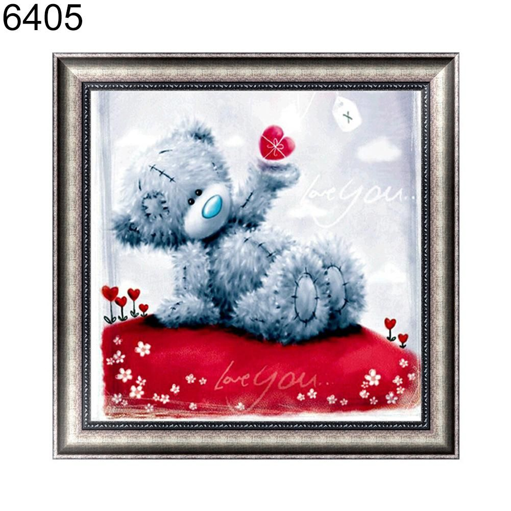 Photo of Cute Bear 5D DIY Diamond Embroidery Painting Cross Stitch Craft Home Wall Decor – as the picture n