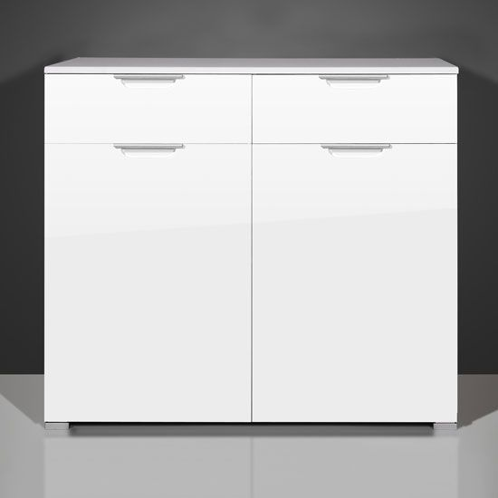 Sydney Small Sideboard In High Gloss White 3 Drawer 1 Door | Dining ...