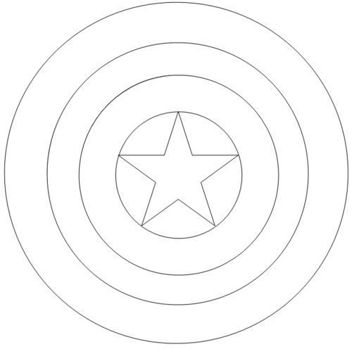 Pin By Sherita On Outlines Captain America Coloring Pages Captain America Shield Captain America Logo