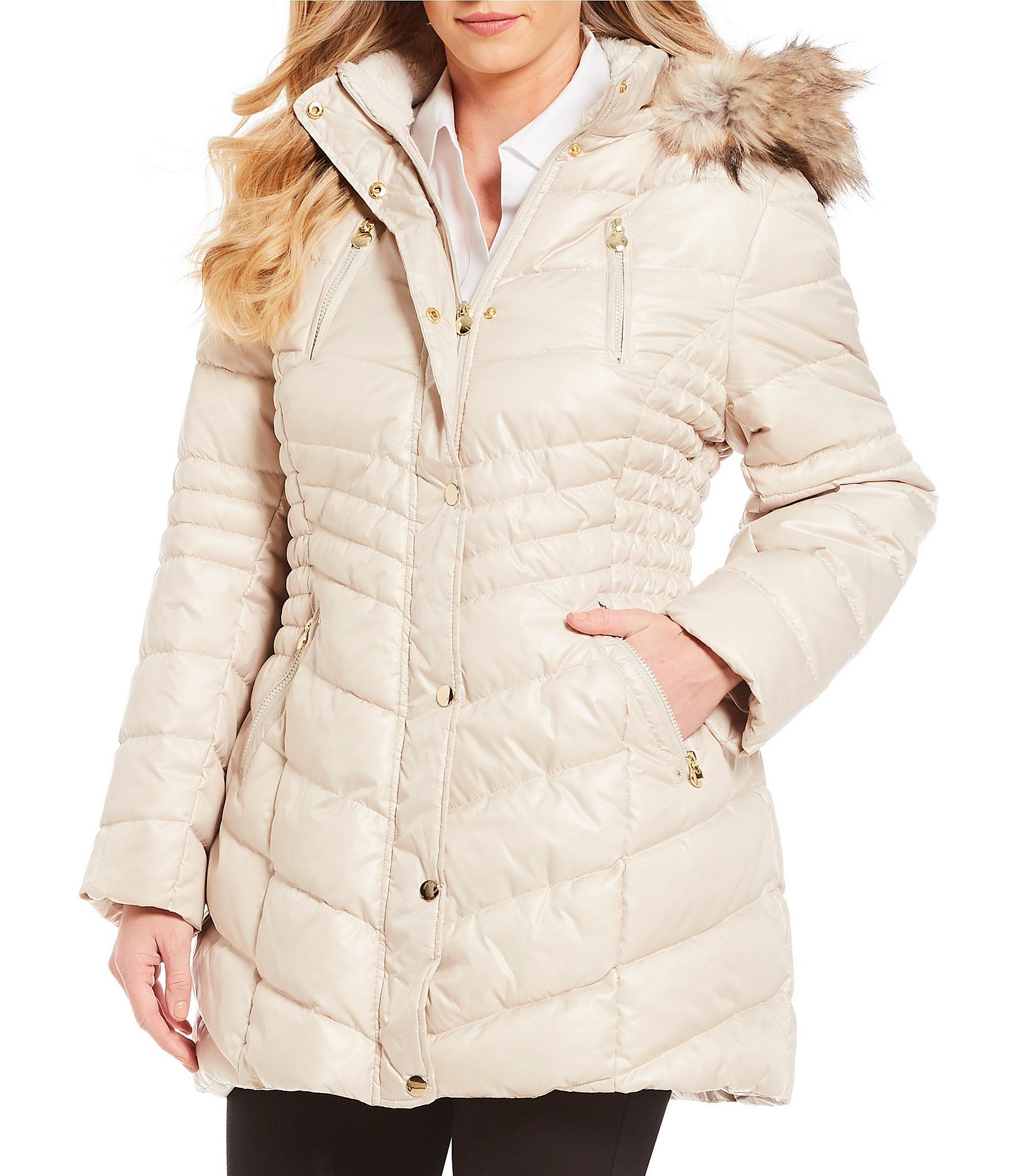 faafd93845d Shop for Preston   York Plus Size Snap Front Faux Fur Hood Puffer Coat at  Dillards.com. Visit Dillards.com to find clothing