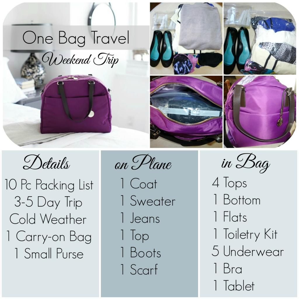 One Bag Travel How To Pack For A Weekend Trip Packing For A Weekend Trip Packing Tips For Travel Travel Wardrobe