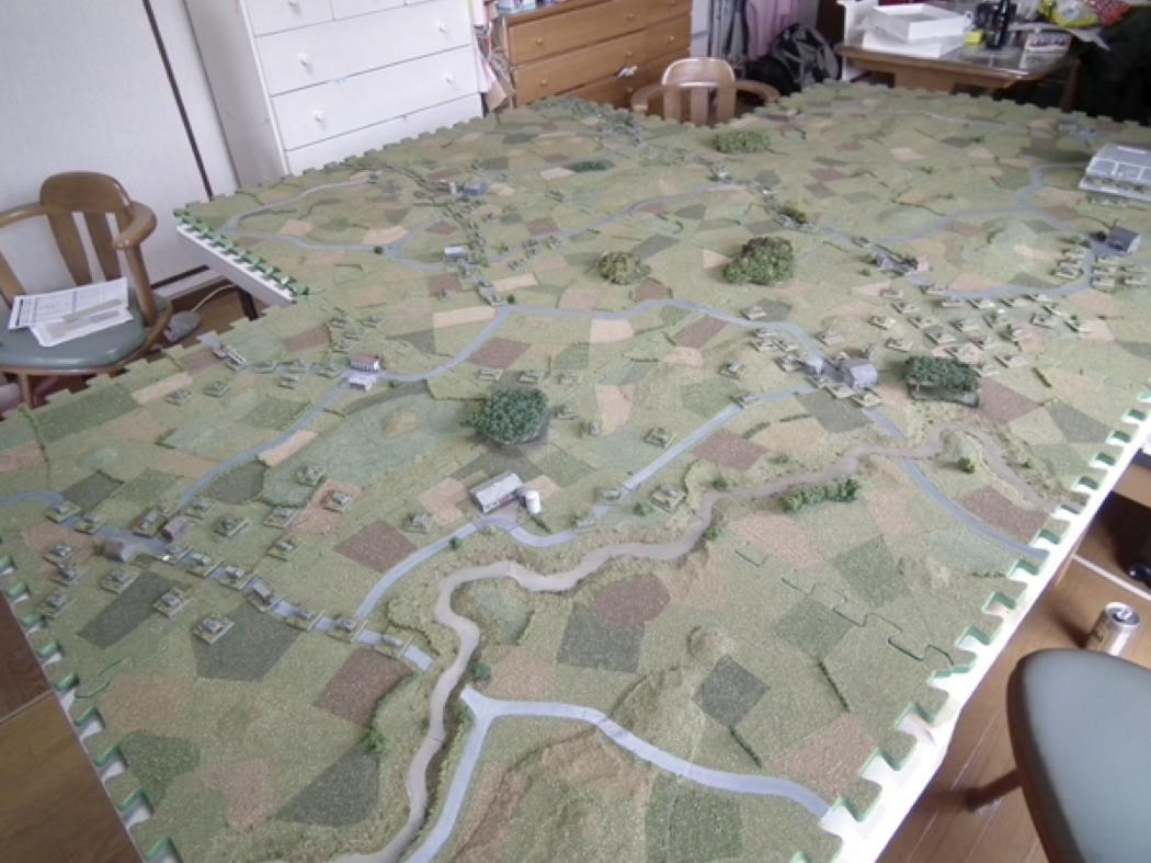 Modular terrain boards using foam tiles | The Art of War