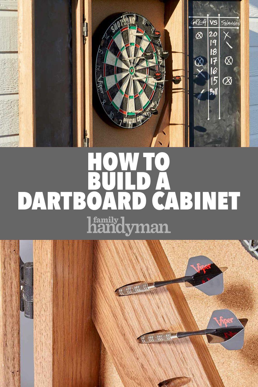 How To Build A Dartboard Cabinet Dart Board Cabinet Dart Board Dartboard Cabinet Diy