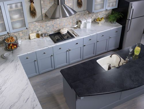 Countertop With A Crescent Edge Calcutta Marble 4925 Island With