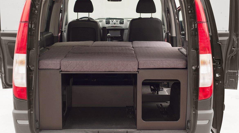 Vito cama campervan pinterest camas y campistas - Muebles para camperizar furgonetas ...