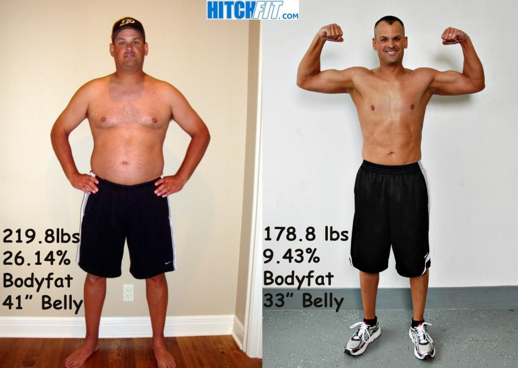 Matt shed over 40 pounds of fat with his hitch fit online for To do before 40