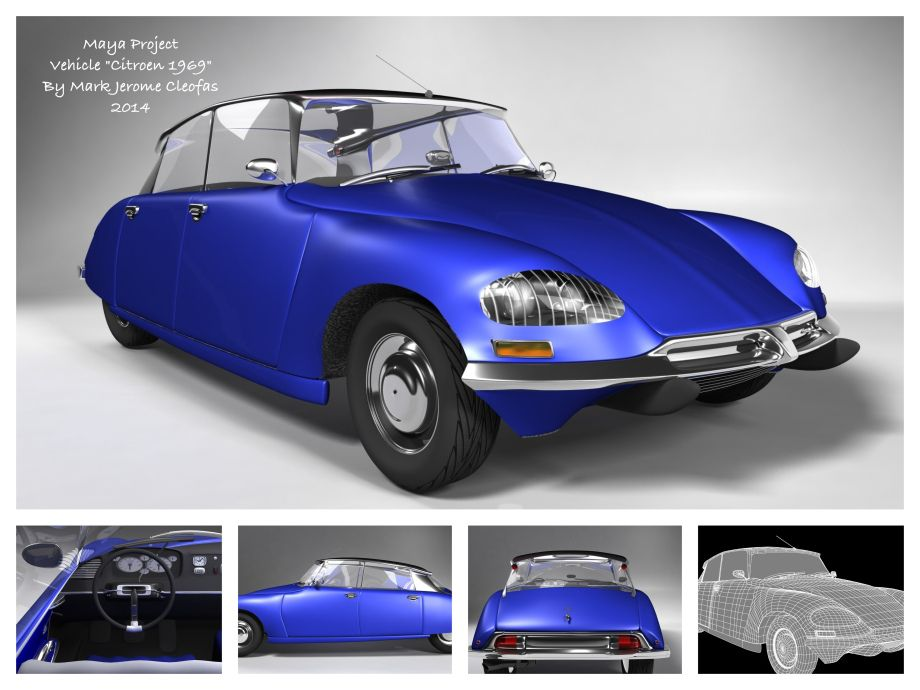 Citroen DS 1969 automobile. My goal here is to build a 1969 model ...