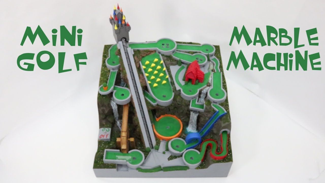 Mini Golf Marble Machine, a themed marble run   Rolling ...