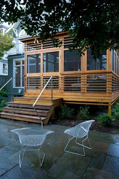 Pin By Archadeck Outdoor Living On Railings Modern Porch Porch Design Screened Porch Designs