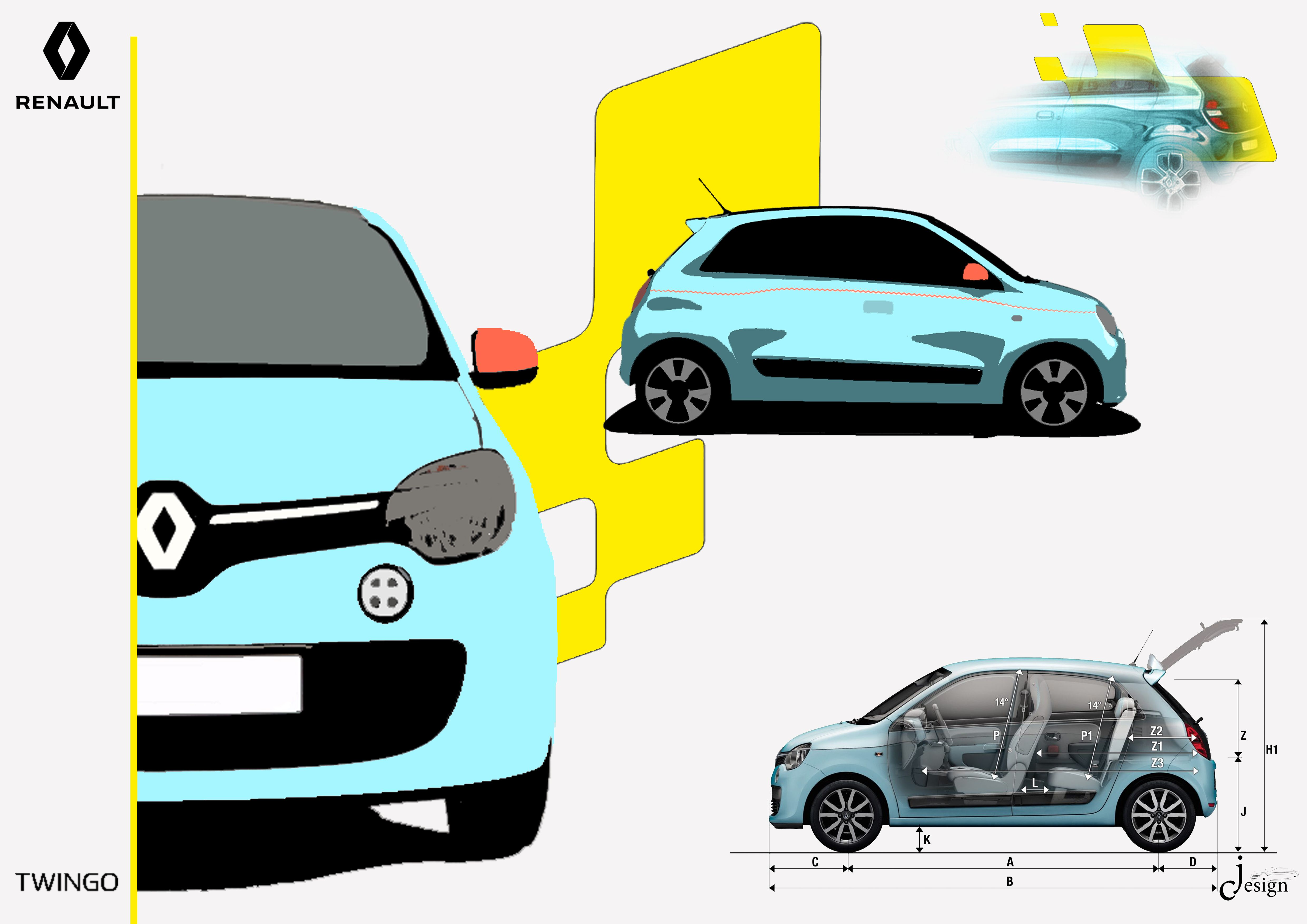 Sketchcar Renault Twingo Renaulttwingo Citycar France