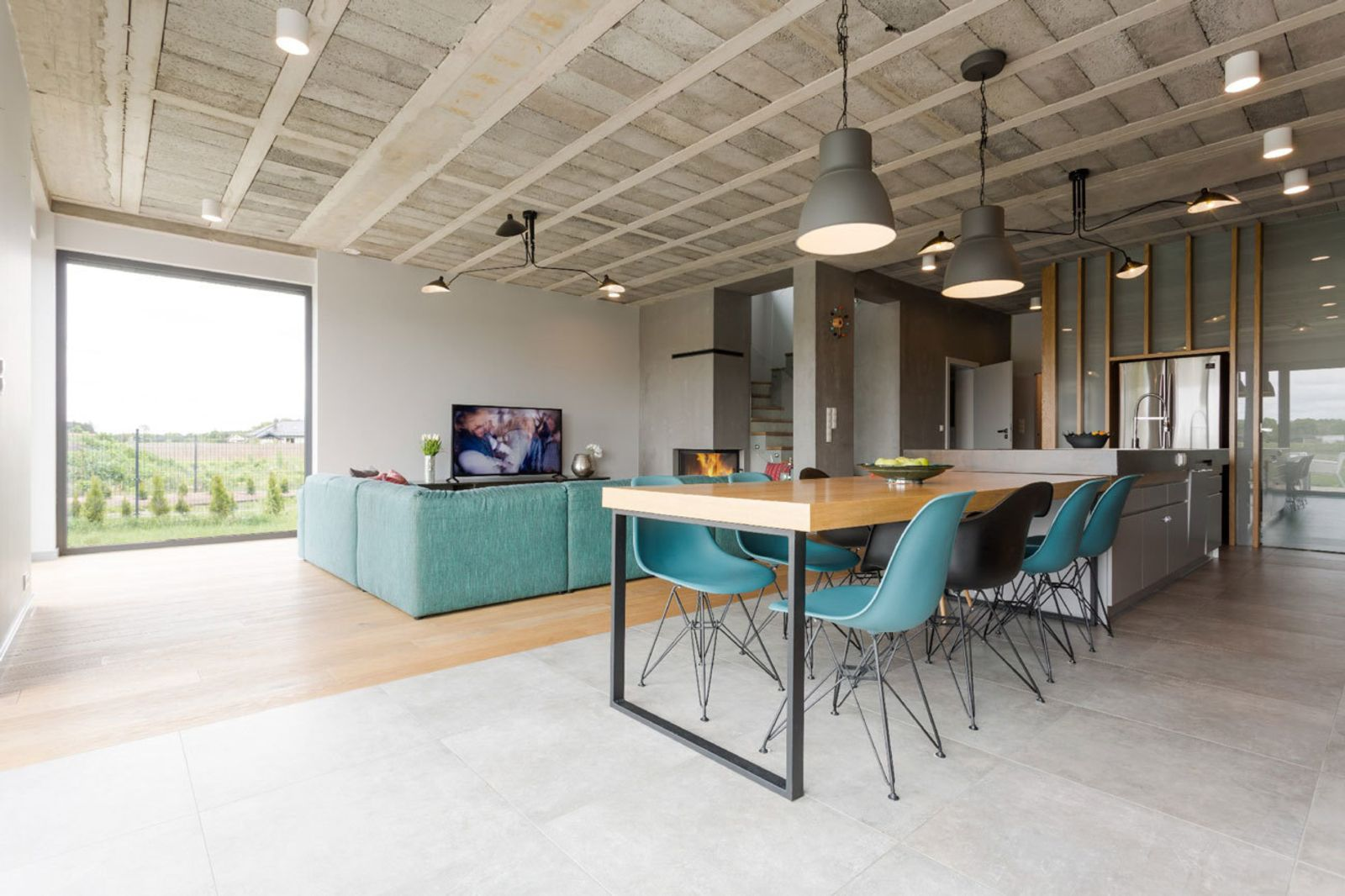 Rarely Do Family Homes Look So Raw Built In Seating House Contemporary Kitchen Design