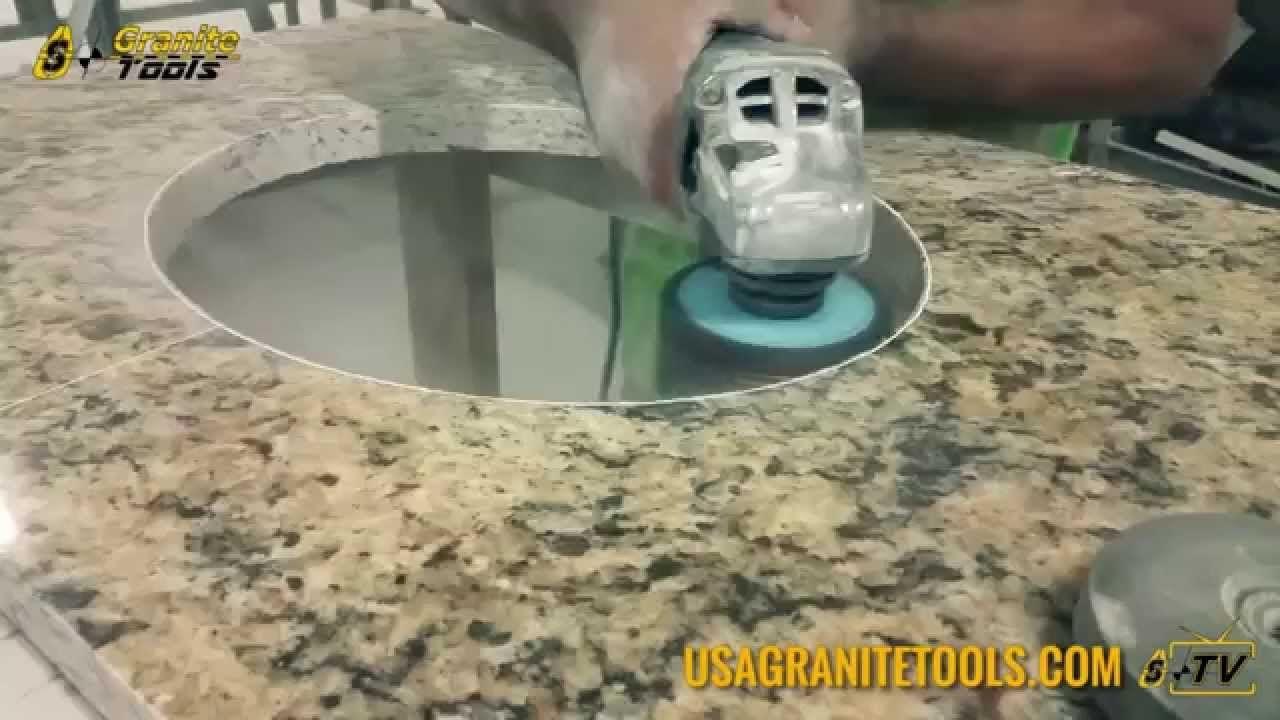 Drilling Countertop Holes Youtube Granite Countertops Colors Countertops Kitchen Nook Lighting