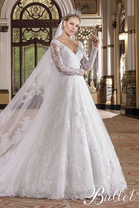 7057efa48a Vestido de Noiva Ballet 03   Vestido de noiva evasê