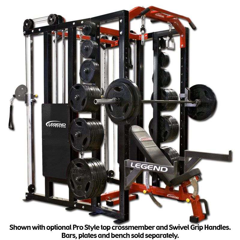 The legend fitness functional trainer fusion half cage this versatile cage combines our popular performance series half cage with our dual stack functional