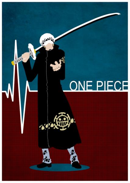 Red One Piece Anime Trafalgar Law Sword