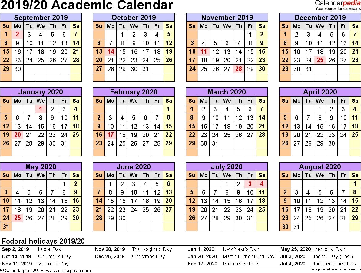Get 2019 2019 Blank School Calendar Year At A Glance Free