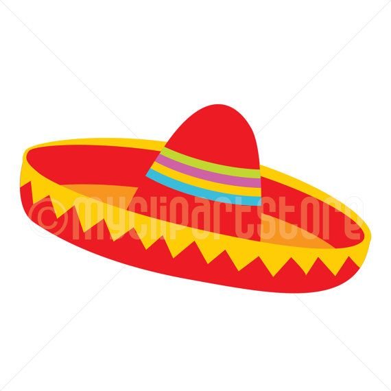 Clipart Red Sombrero Hat 2 Cinco De Mayo Mexican Clipart Single Clipart Image Digital Clip Art Instant Download