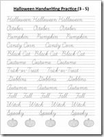 homeschooling freebies halloween handwriting printables fourth grade handwriting. Black Bedroom Furniture Sets. Home Design Ideas