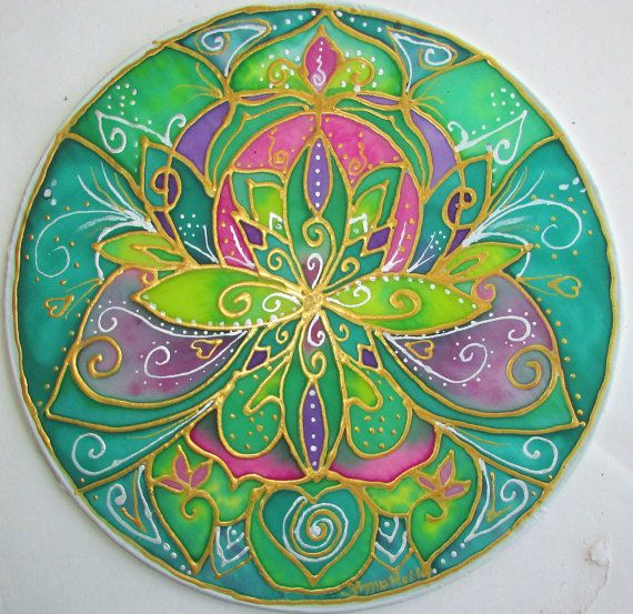 "Mandala art, ""Healing"", heart mandala, heart chakra, reiki ..."