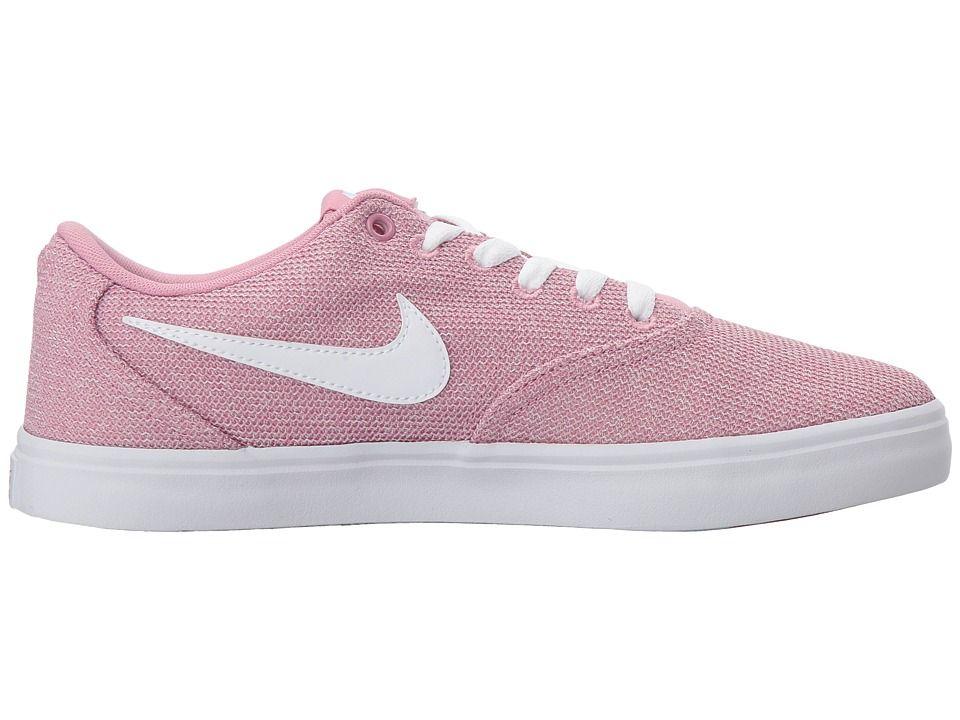 2c0b565d0614 Nike SB Check Solarsoft Canvas Premium Women s Skate Shoes Elemental  Pink White Black