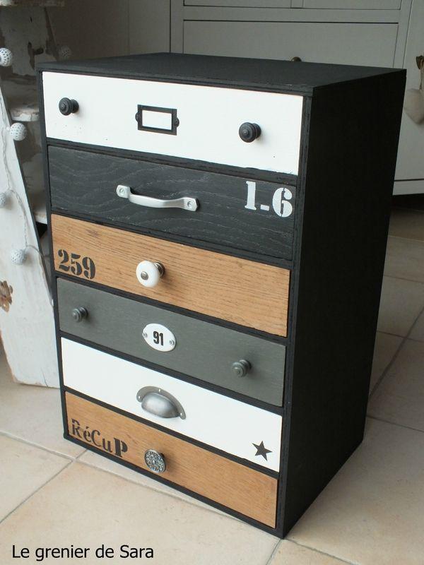Meuble à tiroirs - Broc et Patine - Le grenier de Sara idées