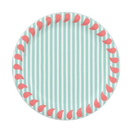 Custom Paper Plates/ Pastel Border-Stripes Paper Plate - anniversary gifts diy cyo party  sc 1 st  Pinterest & Custom Paper Plates/ Pastel Border-Stripes Paper Plate - anniversary ...